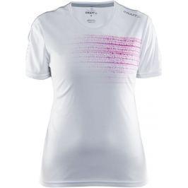 Craft Dámské funkční triko  Mind SS W, M, bílá s růžovou