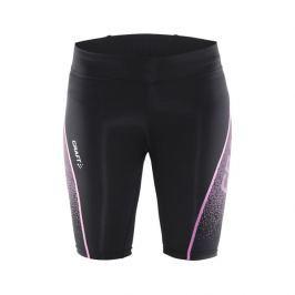 Craft Dámské kompresní krátké kalhoty  Delta Compression Fitness W, L, černá s růžovou
