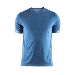 Craft Pánské funkční melírované triko  Eaze Melange, XS, Modrá