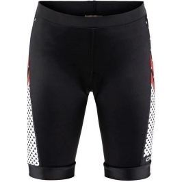 Craft Dětské kalhoty  Bike JR, 110-116, černá s červenou