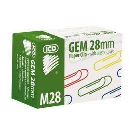 ICO Kancelářské sponky, 28 mm, , mix barev
