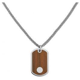 Tommy Hilfiger Ocelový náhrdelník Psí známka s imitací dřeva TH2700692