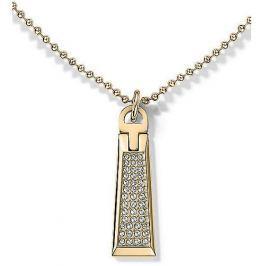 Tommy Hilfiger Zlatý náhrdelník se zipem s krystaly TH2700719