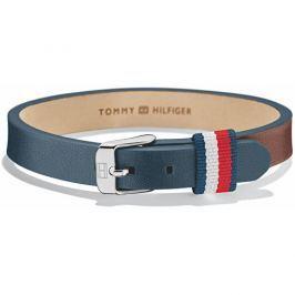Tommy Hilfiger Modro-hnědý kožený náramek TH2700955