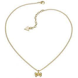 Guess Pozlacený náhrdelník s mašličkou UBN51412