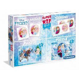 CLEMENTONI Soubor her Ledové království: Zimní zábava 4v1