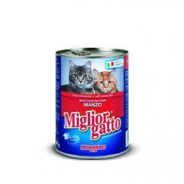 Migliorgatto konzerva pro kočky hovězí 405g
