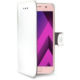 Celly Pouzdro na mobil flipové  WALLY pro Samsung Galaxy A3 (2017) - bílé