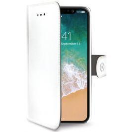 Celly Pouzdro na mobil flipové  Wally pro Apple iPhone X - bílé