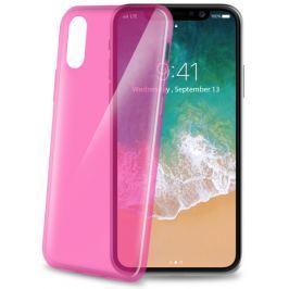 Celly Kryt na mobil  Ultrathin pro Apple iPhone X - růžový