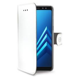 Celly Pouzdro na mobil flipové  Wally pro Samsung Galaxy A8 (2018) - bílé