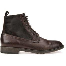 Geox Pánské kožené boty Jaylon Coffee U54Y7B-0FV22-C6009, 42