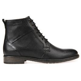 Geox Pánské kožené boty Jaylon Black U74Y7C-00046-C9999, 43