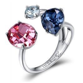 Brosway Otevřený prsten s krystaly Affinity BFF33, 54 mm