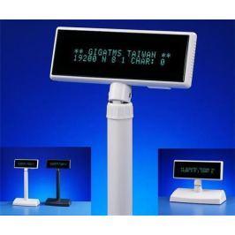 Giga Displej  DSP-840U-00, zákaznický displej 2x20 znaků, USB, white