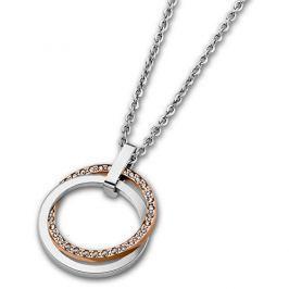 Lotus Style Ocelový náhrdelník s krystaly LS1780-1/2