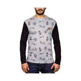 Hydroponic Pánské triko s dlouhým rukávem Elf Ls Heather light grey/Black, M