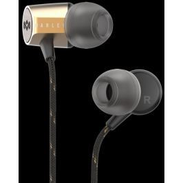 Marley Uplift 2.0 - Brass, sluchátka do uší s ovladačem a mikrofonem