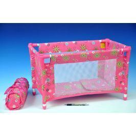 Teddies Postýlka pro panenky kov/plast v tašce 53x32x32cm v sáčku