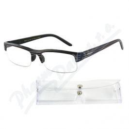 AMERICAN WAY CR Brýle čtecí +3.50 UV400 černé s pruhy a pouzdrem