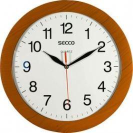 SECCO Nástěnné hodiny, vzor dřevo, 28 cm,