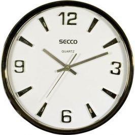 SECCO Nástěnné hodiny, stříbrná, 30 cm,