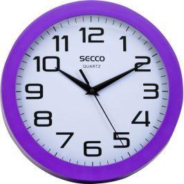 Secco Nástěnné hodiny Sweep second, rám - fialový, 25 cm,