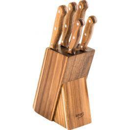LAMART LT2080 SET 5 NOŽŮ V BLOKU WOOD Nože