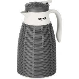 LAMART LT4042 TERMOSKA 1L HNĚDÁ RATAN Konvice, termosky, láhve