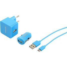 SENCOR SCO 516-000BL USB KIT 1M/WALL/CAR Nabíječky, kabely