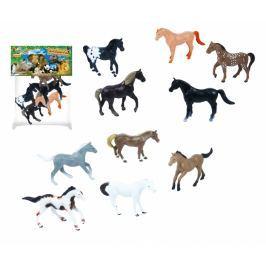 Koně, 5 ks v sáčku, 2 druhy zvířátka, dinosauři