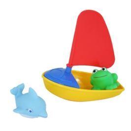 Lodička se zvířátky baby do vody, 3 dr. Vodní hračky
