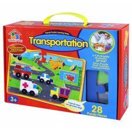 Puzzle 28 pěnové - farma/dopravní prostředky Ostatní stavebnice