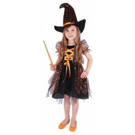 Karnevalový kostým čarodějnice/halloween hvězdička, vel. S Dětské karnevalové kostýmy