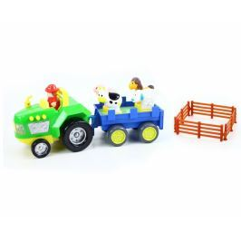 Traktor s vlečkou se zvukem a světlem auta