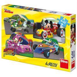 DINO Puzzle Mickey a Minnie na závodech 4x54 dílků