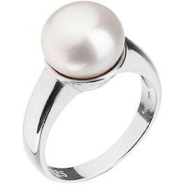 Evolution Group Stříbrný perlový prsten 25001.1, 52 mm