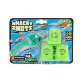 Mikro Trading a.s. Whacky Shots 9,5cm s doplňky Water Splash tmavě zelený na kartě