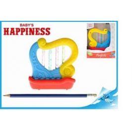Mikro Trading a.s. Harfička plast 11cm na baterie se zvukem a světlem Baby´s Happiness 18m+ v krabi
