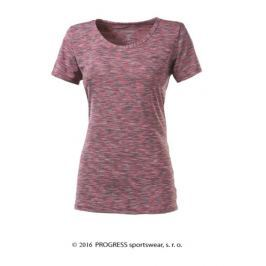 Progress Dámské tričko s krátkým rukávem  MELISSA, L, Růžový melír