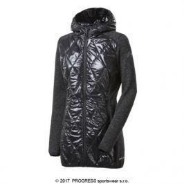 Progress Dámský hybridní kabátek s kapucí vlnou  SILVRETTA WOOL, M, Černá