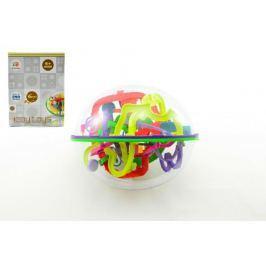 Teddies Hlavolam Bludiště ovál 3D plast 20cm Perplexus v krabici