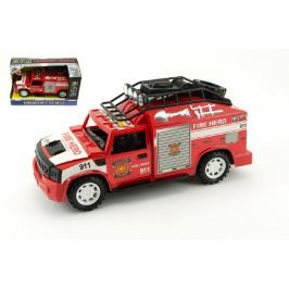 Teddies Auto hasiči plast 25cm na setrvačník na baterie se zvukem se světlem v krabici