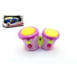 Teddies Bubínky plast 23cm na baterie se zvukem se světlem asst 2 barvy v krabici 30x16,