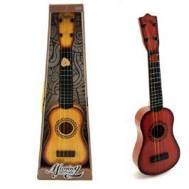 Teddies Kytara 4 struny (ocelové) + trsátko plast 54cm asst 2 barvy v krabici
