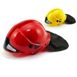 Teddies Přilba helma hasiči plast 27x16cm asst 2 barvy