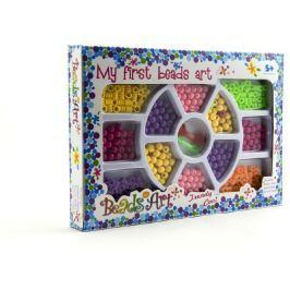 Teddies Korálky plast 0,5cm asst 2 barvy v krabici 26x18cm