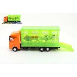 Teddies Auto přepravník zvířat plast 30cm na setrvačník v krabici