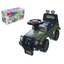 Teddies Odrážedlo auto Cross country vojenská khaki zelená 53x48x26cm v krabici od 12 do