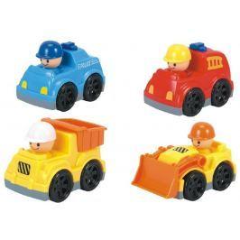 Teddies Auto mini plast 9cm volný chod asst 4 druhy 12ks v boxu